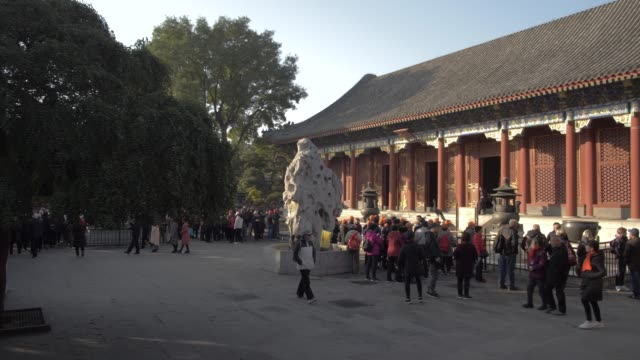 ornate and colourful temple in the summer palace, unesco world heritage site, beijing, people's republic of china, asia - summer palace beijing stock videos & royalty-free footage
