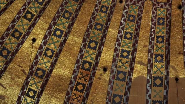 ornate ceiling of the hagia sophia, turkey - ceiling stock videos & royalty-free footage