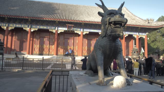 ornate dragon in the summer palace, unesco world heritage site, beijing, people's republic of china, asia - summer palace beijing stock videos & royalty-free footage