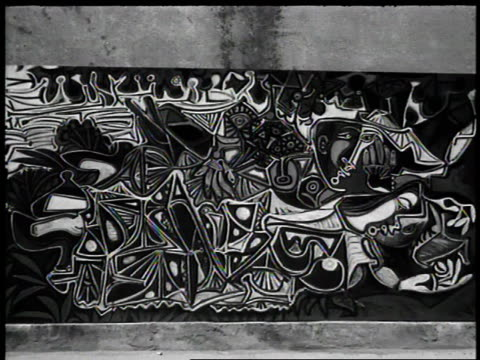 Ornate images dance across a Pablo Picasso painting