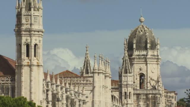ws zi ms ornate spires of mosteiro dos jeronimos / lisbon, portugal - mosteiro dos jeronimos stock videos and b-roll footage