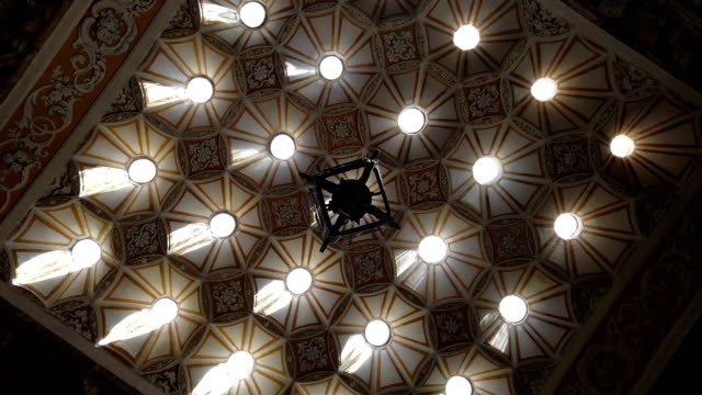 ornate turkish bath ceiling - ornate stock videos and b-roll footage