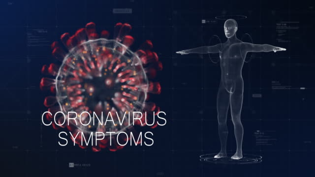 сoronavirus symptoms blue red - the human body stock videos & royalty-free footage