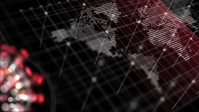 сoronavirus world map closeup - pandemic illness stock videos & royalty-free footage