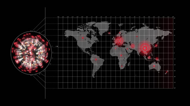 сoronavirus world map - death stock videos & royalty-free footage