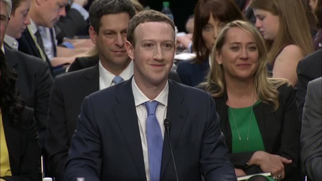 orrin hatch tells facebook ceo mark zuckerberg at a joint senate committee hearing that he remembers 2010 testimony to a task force when he said... - court hearing stock videos & royalty-free footage