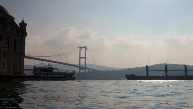 ortakoy mosque and bosphorus istanbul - ortakoy mosque stock videos and b-roll footage