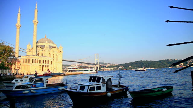 hd: ortakoy mosque - ortakoy mosque stock videos and b-roll footage