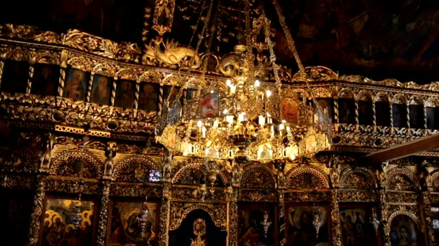 orthodox cathedral interior - resurrection religion stock videos & royalty-free footage