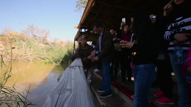 Orthodox Christian celebrate Epiphany in the waters of the eastern bank of the Jordan River on February 2 2018 in Tal elKharrar Jordan Belived to be...