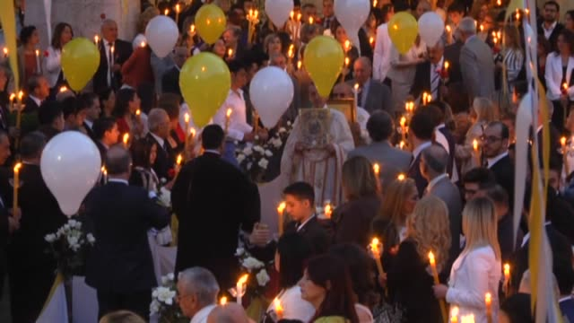 orthodox christians attend an easter mass at orthodox church in hatay turkey on may 01 2016 - hatay stock videos & royalty-free footage