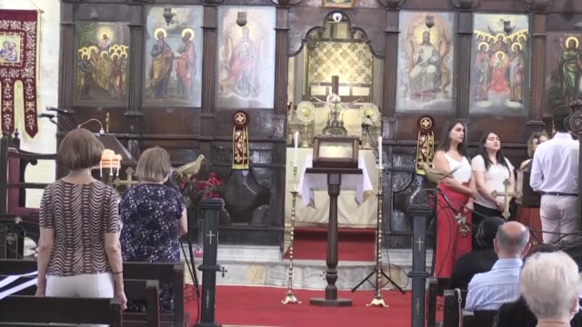 orthodox christians have celebrated the feast of saints peter and paul in turkey's southern hatay province on monday, june 29. people attended the... - social history stock videos & royalty-free footage