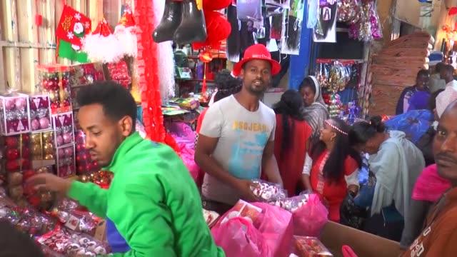Orthodox Christians prepare for the January 7th Gena/Orthodox Christmas celebrations on January 05 2018 in Addis Ababa Ethiopia Orthodox Christmas or...