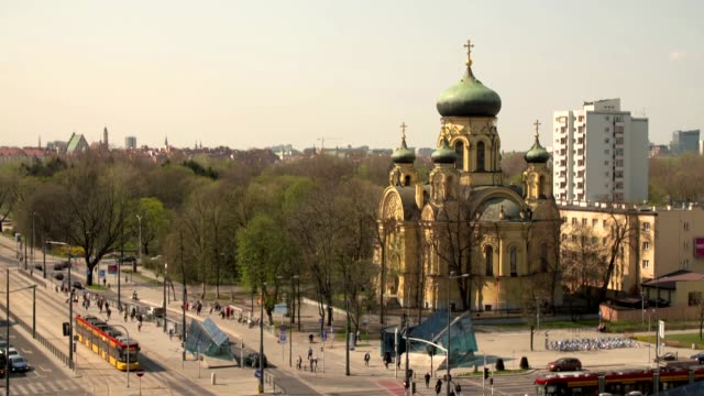 orthodox church of st. marie magdalene in warsaw - warsaw stock videos & royalty-free footage