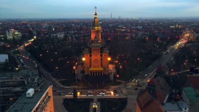 vidéos et rushes de orthodox metropolitan cathedral in timisoara, romania - transylvanie