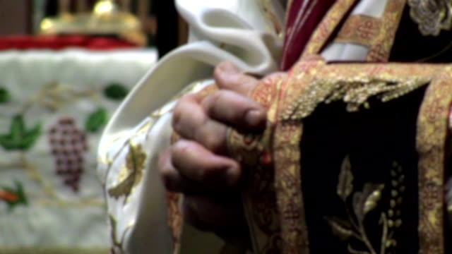 orthodox priest with his hands folded. - priest stock videos & royalty-free footage