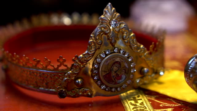 orthodox religious crown - crown headwear stock videos & royalty-free footage