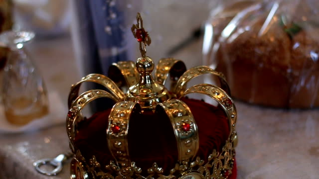 orthodox religious crown - antiquities stock videos and b-roll footage