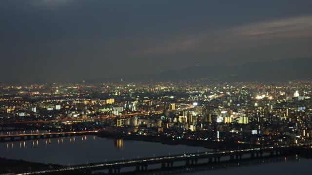 大阪の夜のタイムラプス
