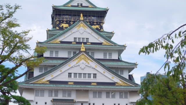 osaka castle - castle stock videos & royalty-free footage