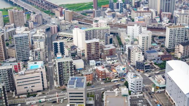 Osaka City time lapse