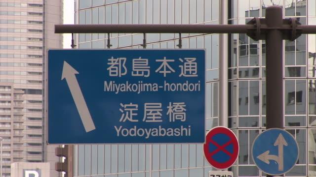 Osaka, JapanClose-up of a signboard at Osaka Japan