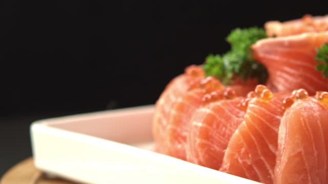 osaka salmon cake - omega 3 stock videos & royalty-free footage