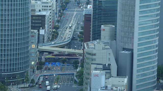 osaka skyline - station stock videos & royalty-free footage