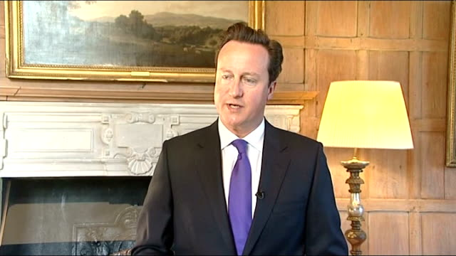 osama bin laden shot dead by us troops: cameron statement; england: buckinghamshire: chequers: int david cameron mp statement sot - this news will be... - the world's end stock videos & royalty-free footage