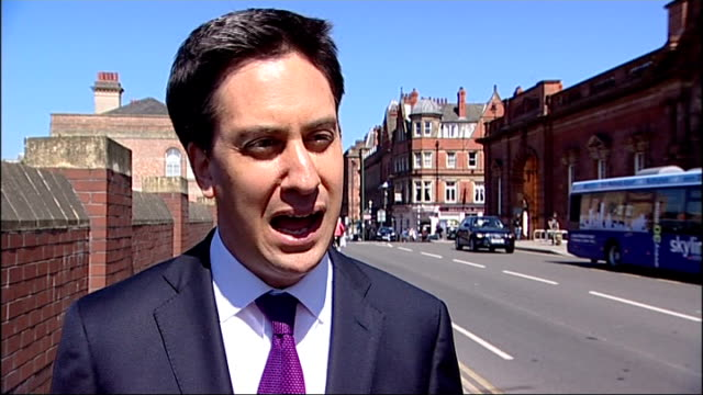 Miliband reaction ENGLAND London EXT Ed Miliband MP interview SOT The world is safer place as the result of the death of Osama bin Laden / thoughts...