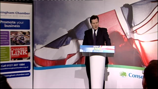 stockvideo's en b-roll-footage met osborne speech amazingly if pfi spending and outsourced contracts are included two thirds of job growth between 1998 and 2006 was down to the public... - uitbesteding