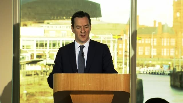 osborne speech sot if you're not active in promoting it monopolies creep in vested interests take control last autumn i asked treasury economists to... - banking sign stock videos and b-roll footage
