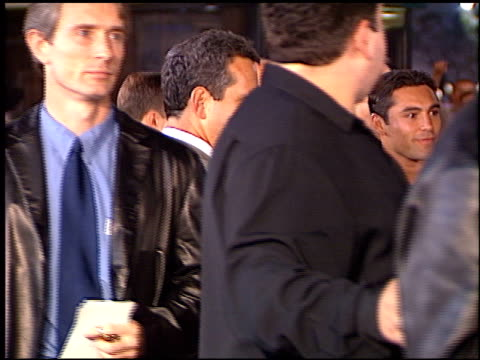 oscar de la hoya at the 'fight club' premiere at the mann village theatre in westwood, california on october 6, 1999. - oscar de la hoya stock videos & royalty-free footage