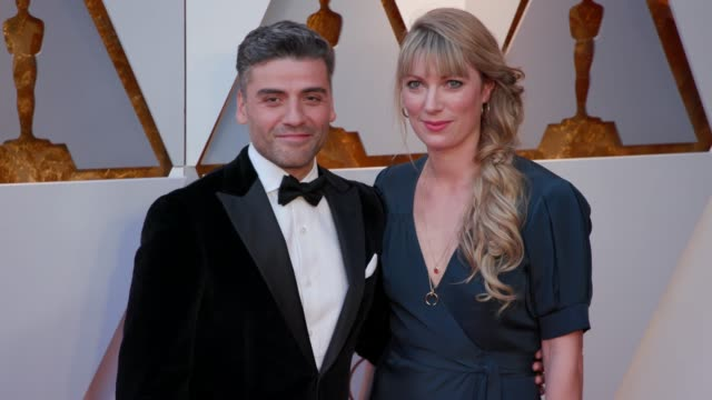 Oscar Isaac and Elvira Lind at the 90th Academy Awards Arrivals 4K Footage at Dolby Theatre on March 04 2018 in Hollywood California