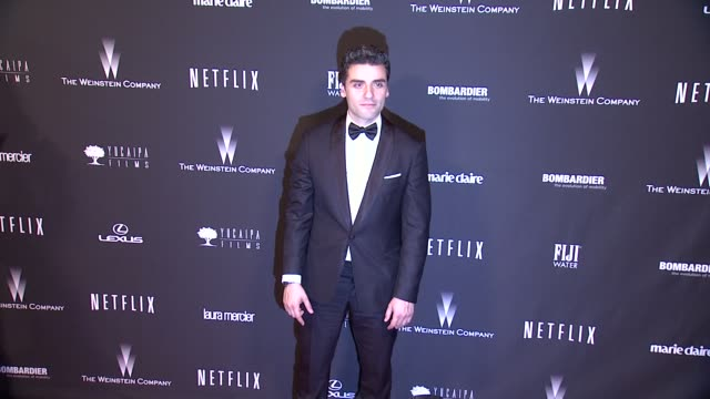 Oscar Isaac at The Weinstein Company Netflix 2014 Golden Globes After Party at The Beverly Hilton Hotel on in Beverly Hills California