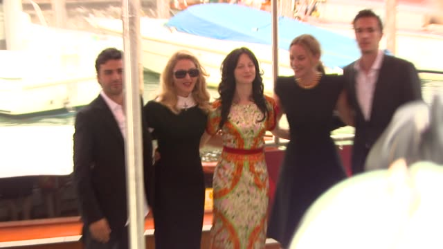 Oscar Isaac Madonna Andrea Riseborough Abbie Cornish James D'Arcy at the WE casino arrivals Venice Film Festival 2011 at Venice