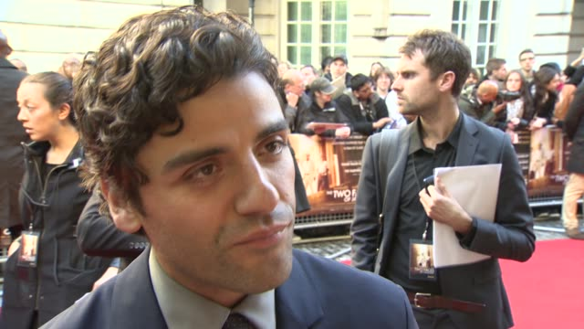 INTERVIEW Oscar Isaac on being cast in Star Wars VII at Two Faces Of January' Premiere at The Curzon Mayfair on May 13 2014 in London England