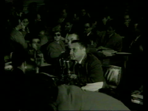 oscar nominations lib washington people appearing before anticommunist committee of senator joseph mccarthy b/w kazan appearing before committee - anti comunista video stock e b–roll