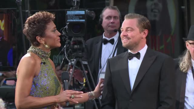 oscar nominee leonardo dicaprio and other hollywood stars arrived on the red carpet ahead of the ceremony - other stock videos & royalty-free footage