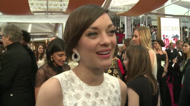 Oscar nominees from Marion Cotillard to Damien Chazelle expressed their enthusiasm on being on the red carpet