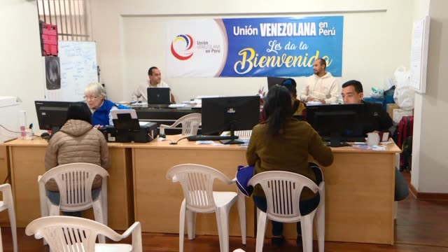 oscar perez president of the ngo union venezolana en peru asks that peruvian president martin vizcarra considers some exemptions including for... - martín vizcarra stock videos & royalty-free footage