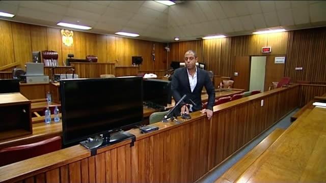 oscar pistorius murder trial day 3 soouth africa pretoria int reporter to camera - pretoria stock videos & royalty-free footage