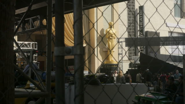 Oscar preparation is underway it draws tourists to Hollywood boulevard Kodak theater Hollywood sign and the Hollywood Walk of Fame