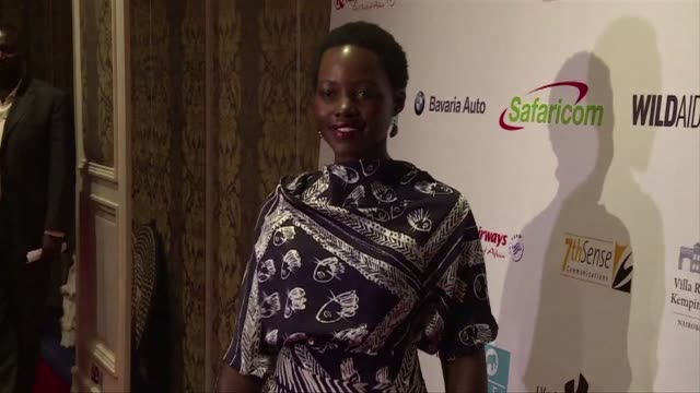 oscar winning actress lupita nyong'o has returned home to kenya to spearhead a new campaign to stop the record slaughter of elephants for their... - lupita nyong'o stock videos and b-roll footage