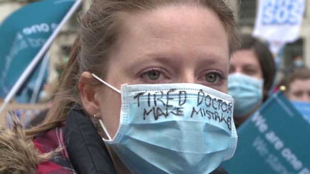 Oscar winning British actress Vanessa Redgrave and fashion designer Vivienne Westwood joined more than a thousand junior doctors protesting in London...