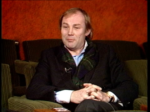 """london? int cms klaus maria brandauer intvw sof: """"it's not a big part -- liked very much."""" sydney pollack intvw sof: """"it's not necessary -- it really... - sydney pollack stock videos & royalty-free footage"""