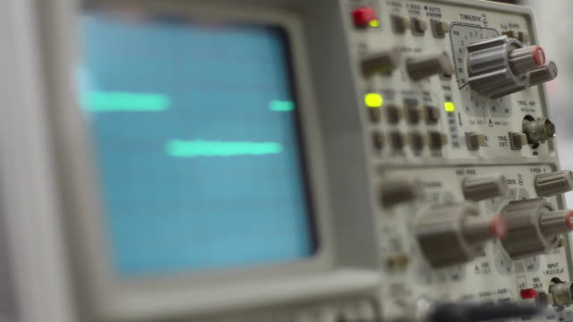 oscilloscope - front view stock videos & royalty-free footage