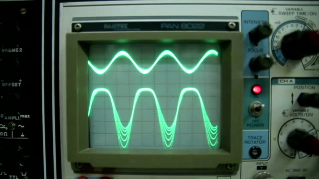 oscilloscope,close up - old stock videos & royalty-free footage