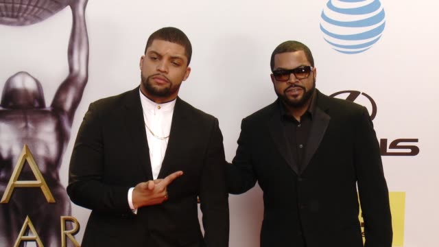 oshea jackson and ice cube at 47th annual naacp image awards at pasadena civic auditorium on february 05 2016 in pasadena california - pasadena civic auditorium stock videos and b-roll footage