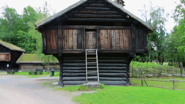 Oslo, Bygdoy, Folk museum, farmhouse from Sore Rauland in Nore